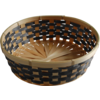Basket, Wicker, Ø29cm, 8cm, naturel/Black