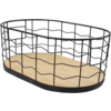 Basket, 39x24x15cm, oval, black