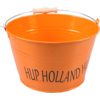 Seau, Hup Holland Hup, Zinc, 16,5cm, 20,3cm, 26,5cm, orange