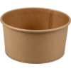 Container, Kraft et plastique , 1000ml, bowl, 78mm, brown