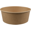Container, Kraft et plastique , 1300ml, 40oz, bowl, 66mm, brown