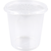 Bak, PP, 500ml, Ø101mm, rippelcup, transparant