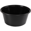 Container, PP, 350cc, Ø119mm, plastic cup, 52mm, black