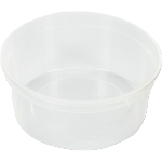 Container, PP, 350ml, Ø115mm, plastic cup, transparent