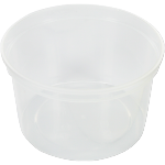 Container, PP, 500ml, Ø115mm, plastic cup, transparent