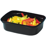 Container, PP, 250ml, plastic cup, 108x82x45mm, black