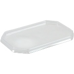 Lid, PS, octagon, 187x46mm, transparent