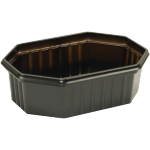 Container, PS, 250ml, 125x95x39mm, black