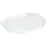 Lid, PET, octagon, 125x95mm, transparent