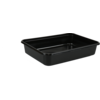 Container, PP, 500ml, kilo container, 182x135x35mm, black