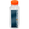 Bottle, pET bottle, Your own printing, PET, with orange cap, 330ml, transparent
