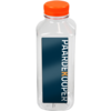 Bottle, pET bottle, Your own printing, PET, with orange cap, 500ml, transparent