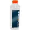 Bottle, pET bottle, Your own printing, PET, with orange cap, 1000ml, transparent