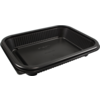 Container, PP, 650ml, menu container, 227x177x37mm, black