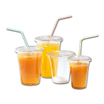 Glass, soft drink glass, PET, 450ml, 120mm, transparent