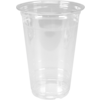 Glass, soft drink glass, PET, 590ml, 125mm, transparent