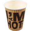 I'M a Concept, Cup, I'M a HOT cup, Cardboard and coating, 250ml, 8oz, 92mm,