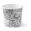 Soup bowl, Cardboard and plastic, 750ml, 26oz, white/Black