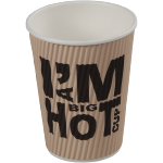 I'M a Concept, Ripple cup, I'M a big HOT cup , Carton et revêtement, 350ml, 12oz, 110mm,  blanc
