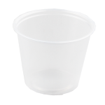 Container, PP, 162ml, Ø76mm, plastic cup, 61mm, transparent