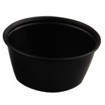Container, PP, 96ml, Ø76mm, plastic cup, 36mm, black