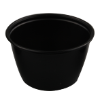 Container, PP, 118ml, Ø76mm, plastic cup, 46mm, black