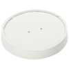 Lid, Cardboard and plastic, round, white