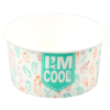 I'M Concept, Ice-cream tub, I`M a COOL cup, Cardboard and coating, 300ml, 12oz, 75mm,  white