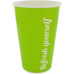 Milkshake cup, Cardboard, 400ml, 16oz, green