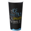 Milkshakebeker, ICE is (N)ICE, Karton/PE, 500ml, zwart/Blauw