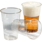 Glass, beer/soft drink glass, tulip, PET, 250ml, 106mm, transparent