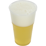 Glass, beer/soft drink glass, tulip, PET, transparent