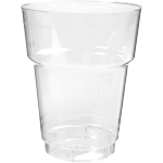 Glass, beer/soft drink glass, with collar, PS, 250ml, transparent