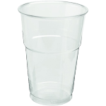 Glass, beer/soft drink glass, with collar, PET, 250ml, transparent