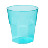 Glass, bistro glass, PS, summertime, 220ml, turquoise