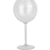 Glass, wine glass, PETG, durable (500x), 650ml, transparent