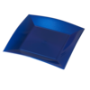 DEPA® Plate, square, pearl, 1 compartment, PP, 230mm, 230x blue