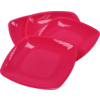 DEPA® Plate, square ,  dessert plate, summertime, 1 compartment, PP, 180x180mm, fuchsia