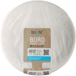 Bright® Bord, rond,  1-vaks, PS, Ø220mm, wit
