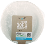 Bright® Bord, rond,  1-vaks, PS, Ø170mm, wit