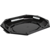 Catering serving tray , zonder deksel, PS, octagon, 335x250mm, black