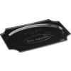 Depa Catering serving tray , catering platter, PS, oval, 450x310mm, bon appetit, black
