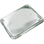 Couvercle, APET, rectangulaire, 226x177mm, transparent