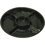 Catering serving tray , catering platter, PS, round, ∅260mm, black