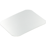 Lid, Cardboard and aluminum, rectangular, 122x96mm, aluminum