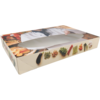 Catering box, Bon appetit, Cardboard, 360x550x80mm, with window, white