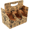 Cup carrier, Cardboard, beer, 6 compartments , 225x140x164mm, brown