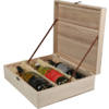 Wine box, wood, 3 flessen, 340x95x285mm
