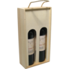 Wine box, wood, 2 bottles , with lid, 8.5x35.5x18cm