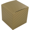 Gift box, Paper, 8x8x8cm, Dot, gold